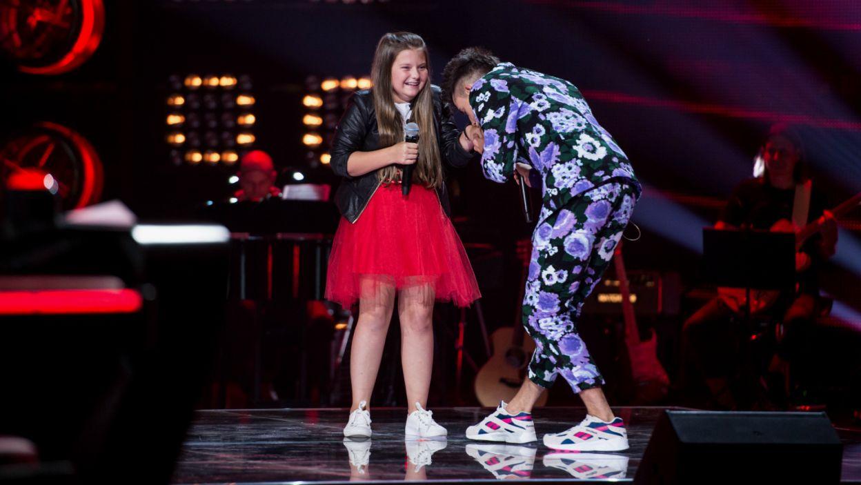 Dżentelmen Dawid? Czego się nie robi dla tak wybitnych wokalistek! Czy Natalia nabrała się na jego sztuczki? (fot. J. Bogacz/TVP)