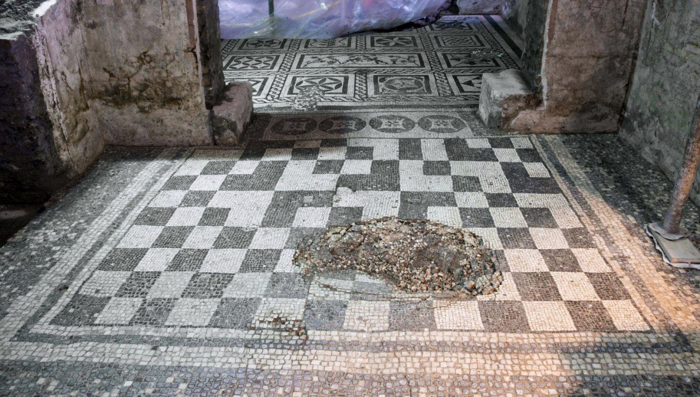 Podczas budowy stacji metra w centrum Rzymu odkryto dobrze zachowane pozostałości domu centuriona (fot. PAP/EPA/Soprintendenza Speciale di Roma)
