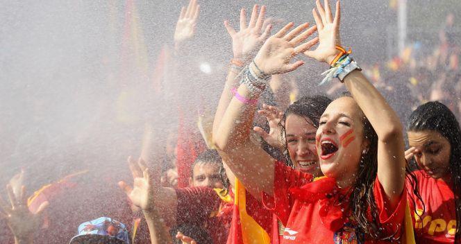 Atmosfera w stolicy Hiszpanii była naprawdę gorąca (fot. Getty Images)