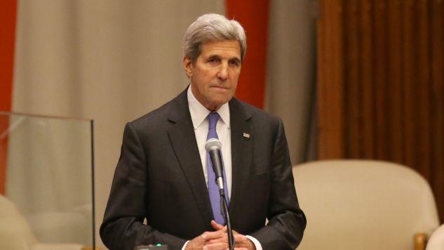 John Kerry przeprowadził rozmowę z szefem dyplomacji Rosji Siergiejem Ławrowem(fot. Mohammed Elshamy/Anadolu Agency/Getty Images)