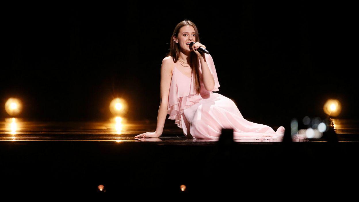 Młodziutka wokalistka z potężnym głosem, Litwinka Ieva Zasimauskaitė została doceniona przez widzów (fot. A. Putting/EBU)