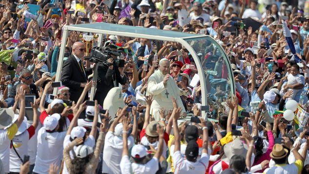 1,3 mln osób uczestniczyło we mszy św. w stolicy Peru (fot. REUTERS/Pilar Olivares)