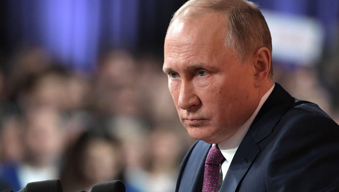Władimir Putin podziękował telefonicznie Donaldowi Trumpowi (fot. PAP/EPA/ALEXEY NIKOLSKY)