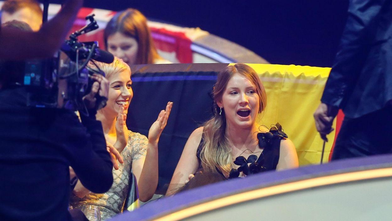 Reprezentantka Belgii o tym, że znalazła się w szczęśliwej dziesiątce dowiedziała się jako ostatnia i nie kryła zaskoczenia (fot. PAP)