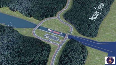 Projekt kanału łączącego Zalew Wiślany z Zatoką Gdańską