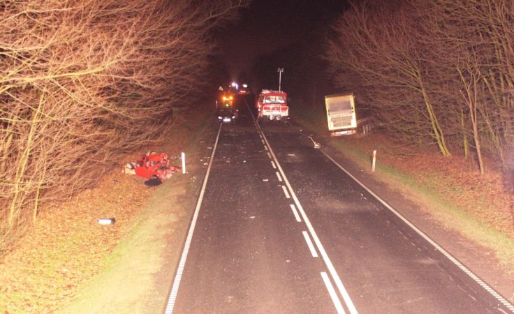 Tragiczny wypadek wydarzył się na prostym odcinku drogi (fot. KPP Mogilno)