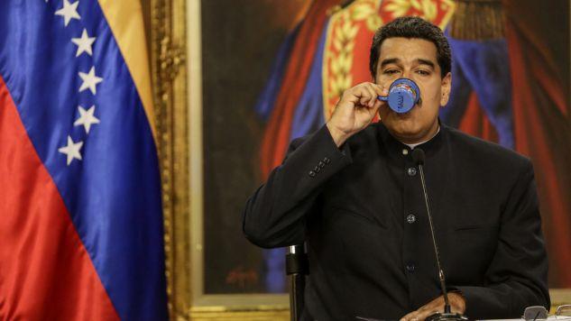 Prezydent Wenezueli Nicolas Maduro (fot. PAP/EPA/CRISTIAN HERNANDEZ)