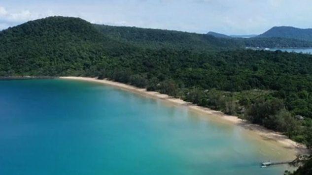 Leniwa plaża w Kambodży (fot. TVP Info)