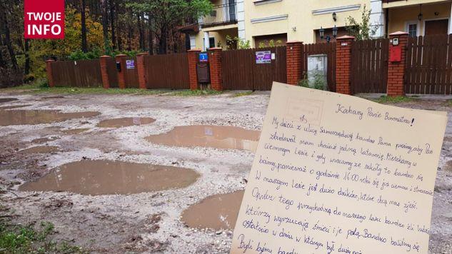 Dzieci napisały list do burmistrza Józefowa (fot. TVP Info)