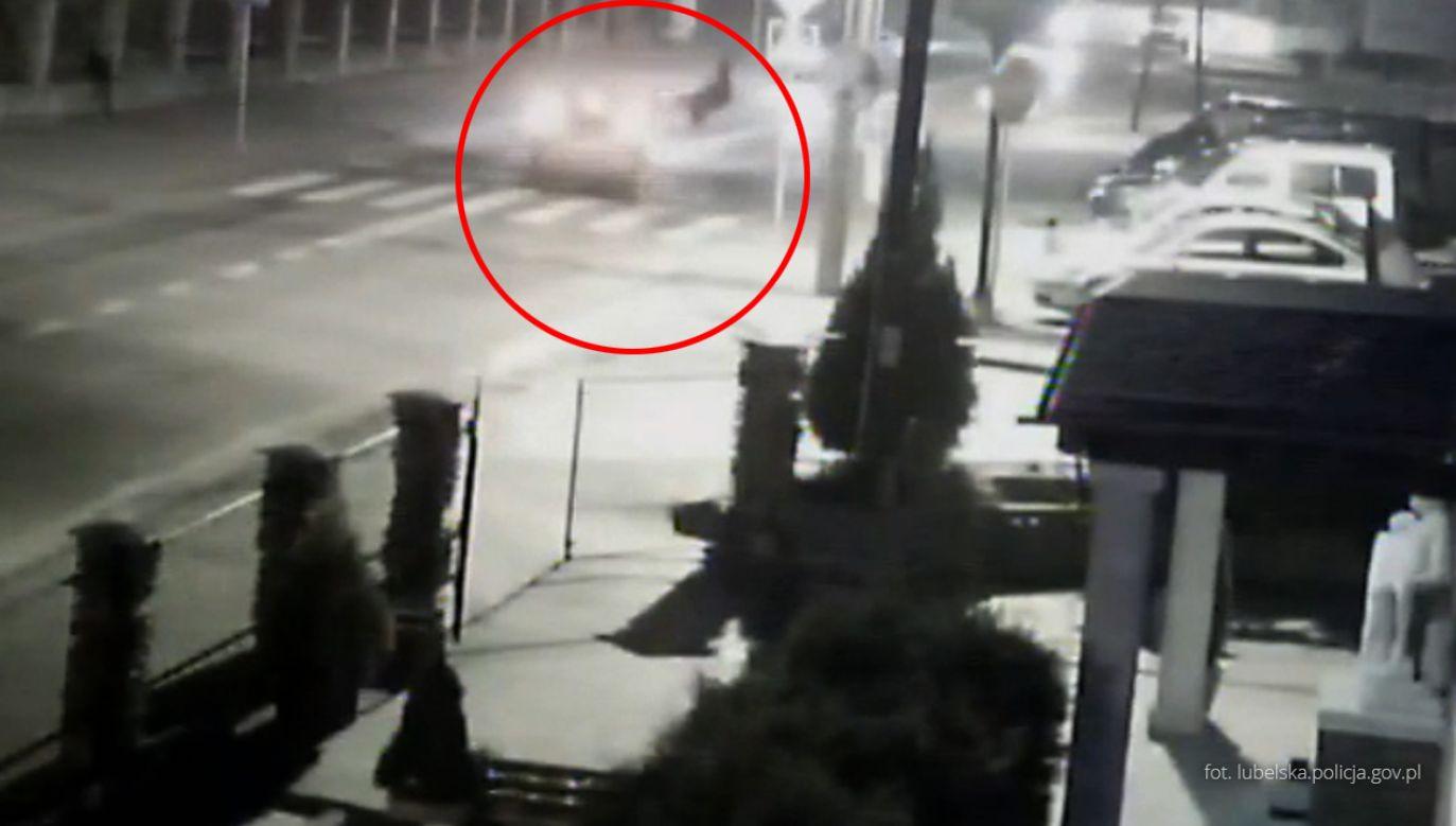 Potrącenie pieszej w Biłograju (fot. lubelska.policja.pl)
