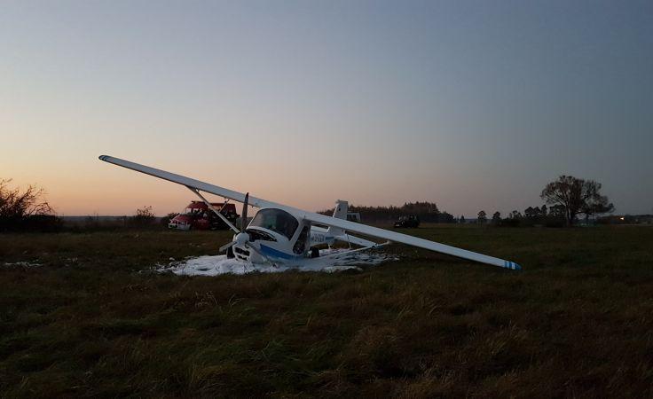 Awaryjne lądowanie awionetki pod Włocławkiem