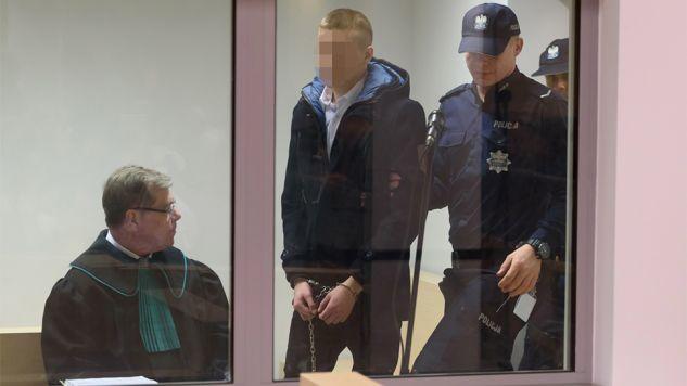 Adam Z. znalazł  się w sali za pancerną szybą (fot. PAP/Jakub Kaczmarczyk)