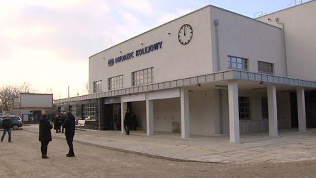 Zmodernizowany dworzec kolejowy w Miechowie dostępny dla pasażerów