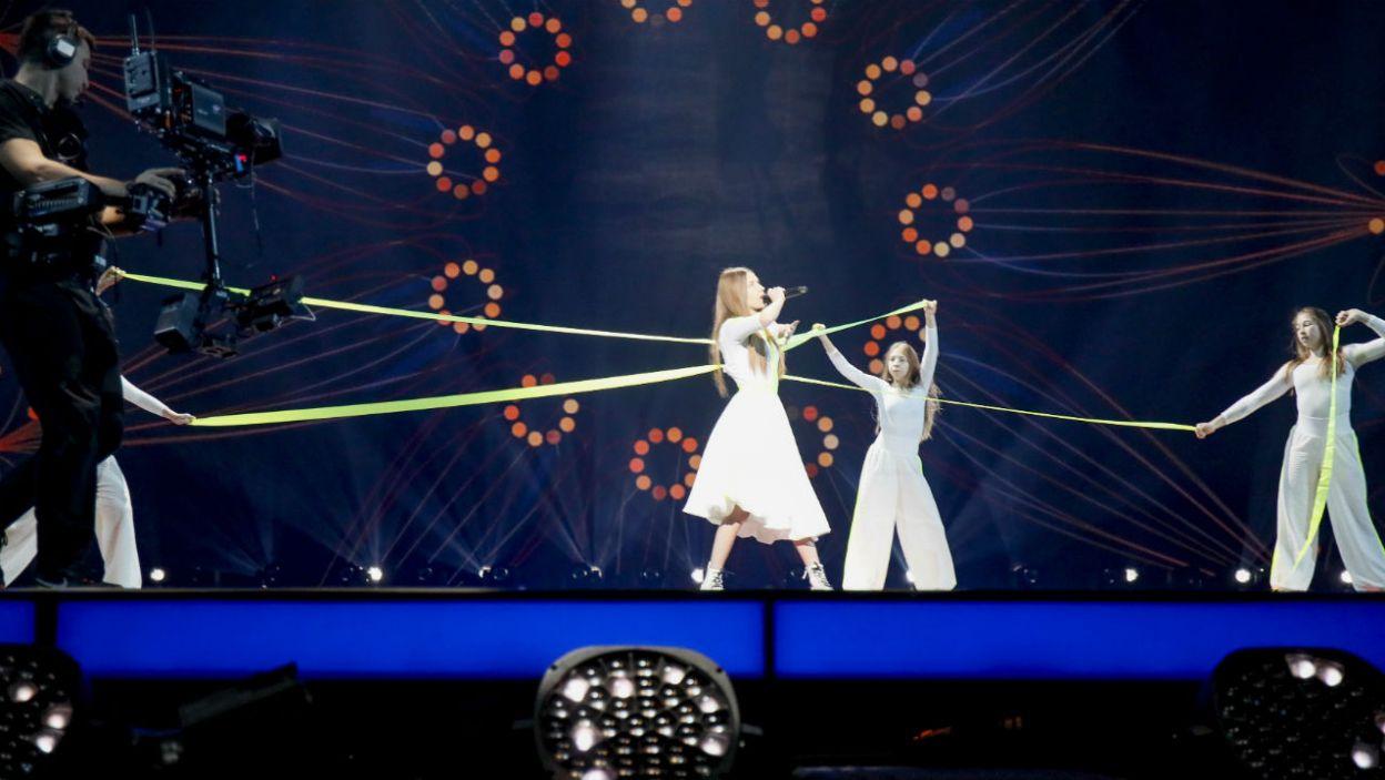 W Mińsku towarzyszy jej rodzina (fot. Andres Putting/Eurovision)