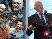 Rulewski o plakacie z politykami PiS: Propagowanie ideologii faszystowskiej jest konstytucyjnie zakazane