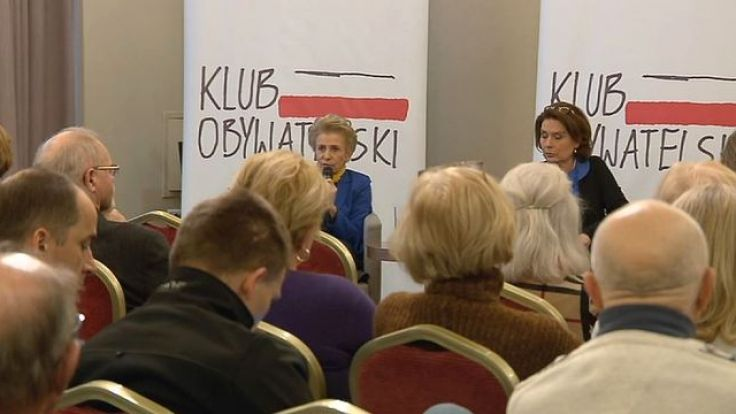 Iwona Śledzińska-Katarasińska i Małgorzata Kidawa-Błońska w Olsztynie