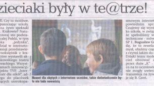 Dzieciaki były w te@trze - prasa