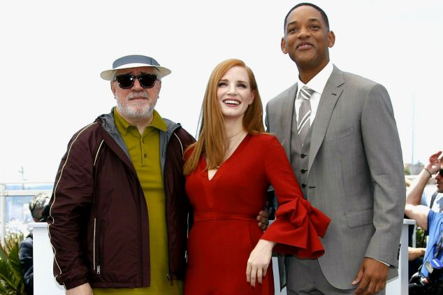 Tegorocznymi członkami jury festiwalowego są aktorzy Will Smith, Jessica Chastain i reżyser Pedro Almodovar (fot. PAP)