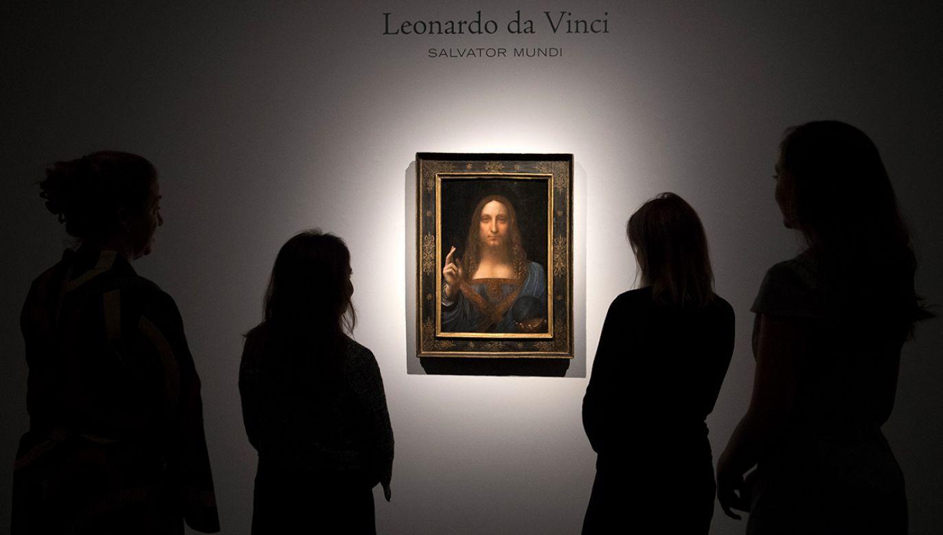 """""""Salvator Mundi"""" Leonarda sprzedano na aukcji za rekordową sumę 450 mln dolarów (fot.  Carl Court/Getty Images)"""