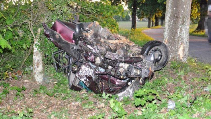 24-letnia mieszkanka Działdowa zginęła na miejscu (fot. KWP Olsztyn)