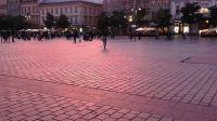 Jesienny zmrok na Rynku Gł. (fot. Kazimierz Martyniak)