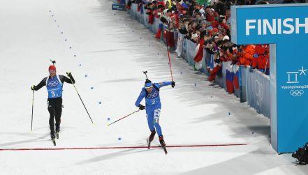 Biathlon: sprinterski finisz. Niemcy stracili medal na ostatnich metrach