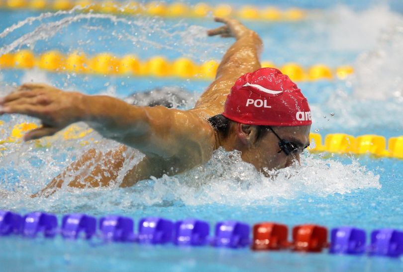 Łukasz Wójt w finale na 400 m stylem zmiennym był dopiero dziewiąty (fot. PAP)