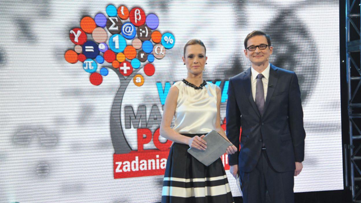 Gospodarzami programu byli Paulina Chylewska i Przemysław Babiarz (fot. I. Sobieszczuk/TVP)