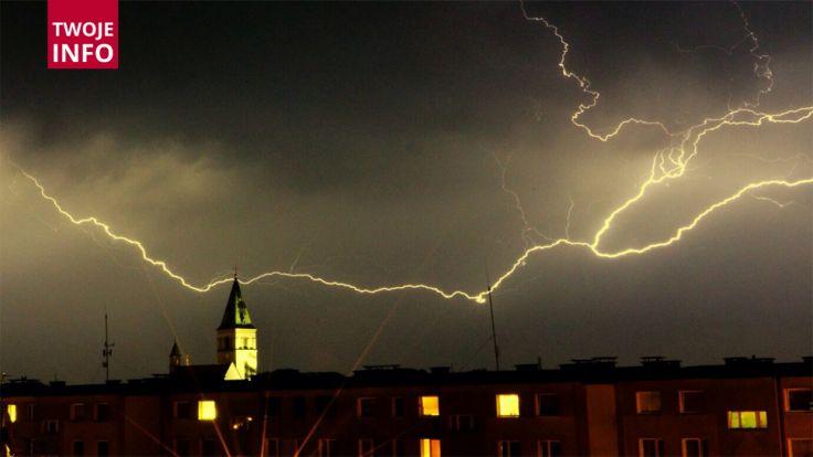 Meteorolodzy znowu ostrzegają przed nawałnicami, (Twoje Info, fot. Darek)