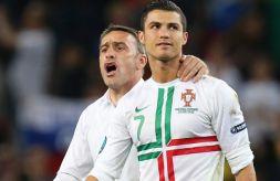 P. Bento i C. Ronaldo (fot. PAP/EPA)