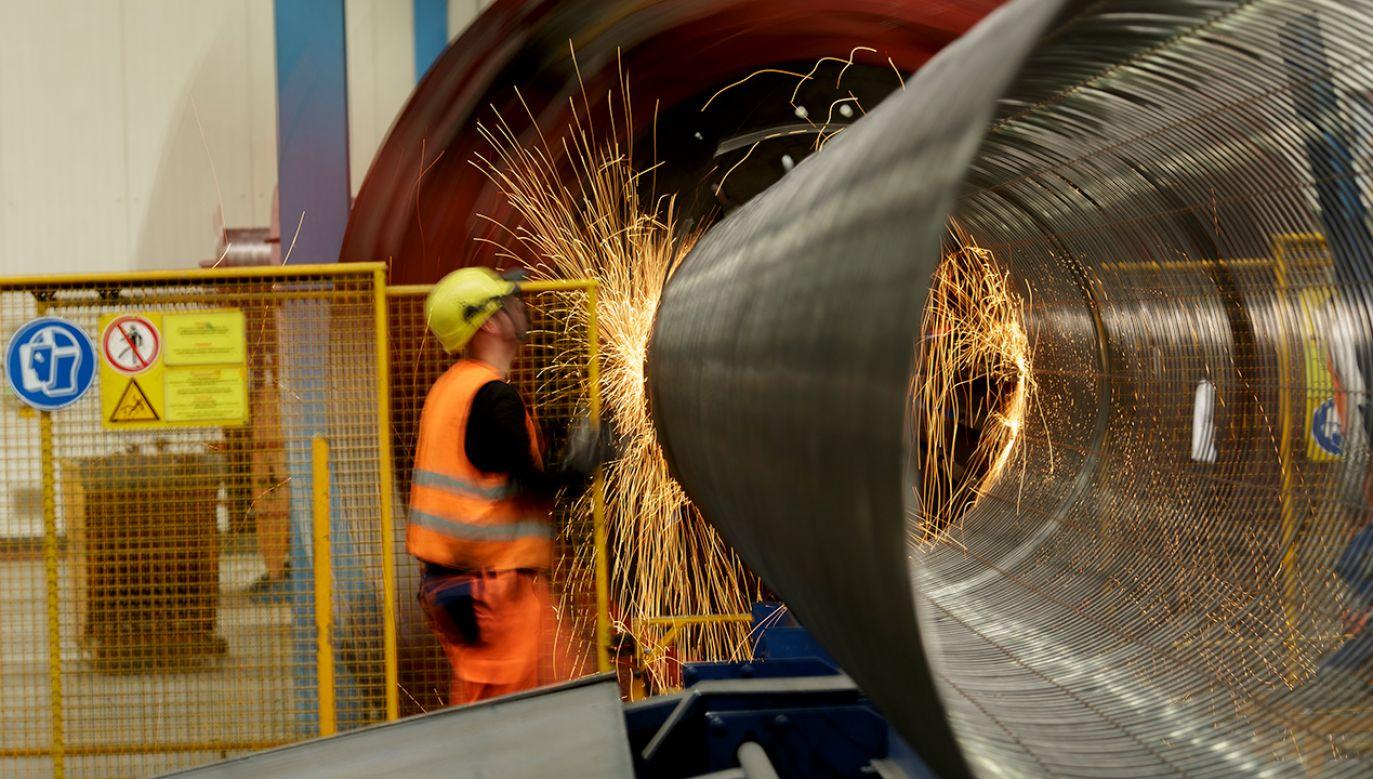 Fabryka rur dla Nord Stream 2 w Sassnitz, Niemcy (fot. Carsten Koall/Getty Images)