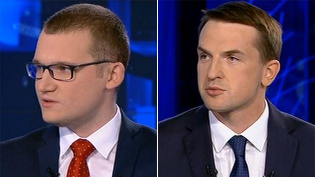 Paweł Szefernaker (PiS) i Adam Szłapka (Nowoczesna) (fot. TVP)