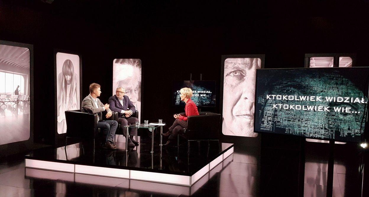 W studio rozmowa o sprawie ze współautorami programu: Łukaszem Kowalskim i Andrzejem Minko
