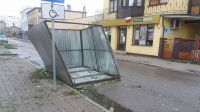 Skutki nawałnic w Żninie (fot. Janina Terzyk)