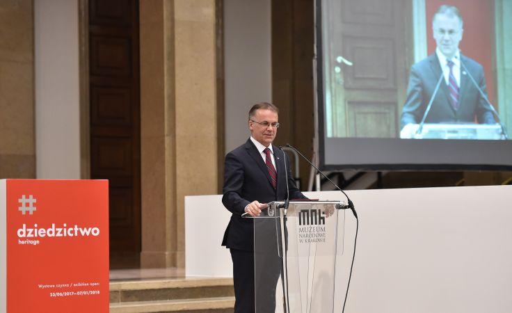 Wiceminister kultury i dziedzictwa narodowego Jarosław Sellin, fot. PAP/Jacek Bednarczyk