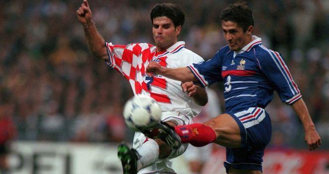 Aljosa Asanović podczas półfinałowego meczu z Francją (fot. Getty Images)