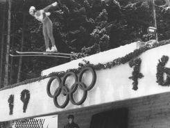 Symbol olimpijski na skoczni Bergisel (fot. Getty Images)