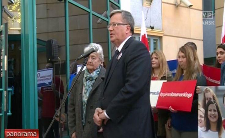 Prezydent Bronisław Komorowski w Gdańsku