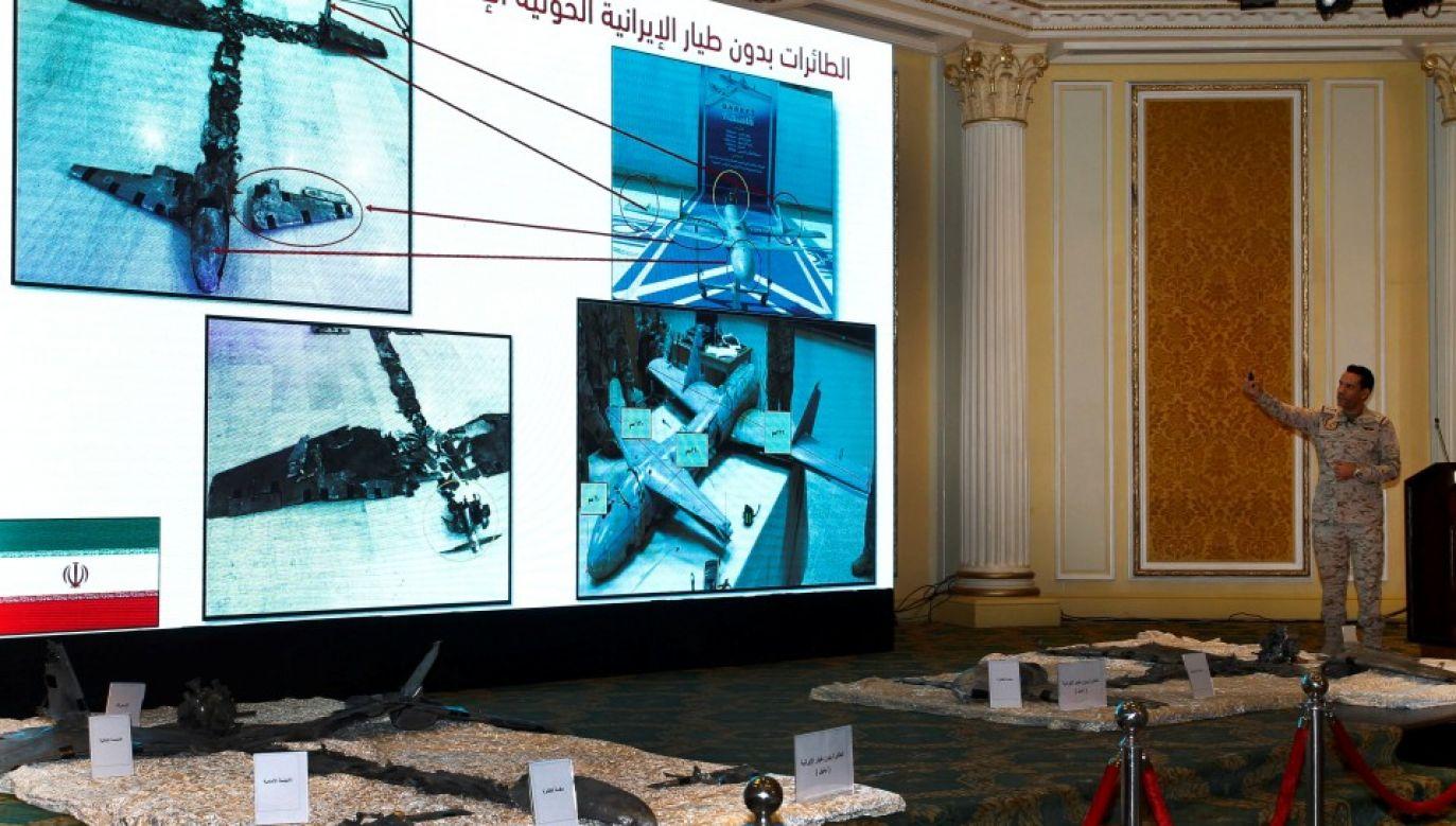Saudyjskie siły powietrzne w ostatnim czasie przechwyciły i zniszczyły dwa bezzałogowe samoloty (fot. PAP/EPA/Ahmed Yosri)