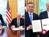 """Prezydent podpisał deklarację na stojąco. """"To nieformalne, sekwencyjne zdjęcie"""""""