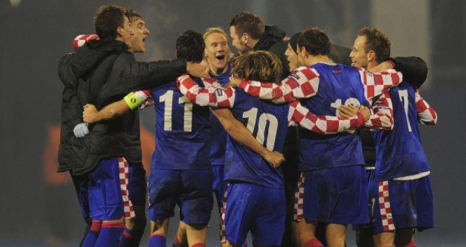 Radość Chorwatów po drugim meczu barażowym z Turcją (fot. Getty Images)