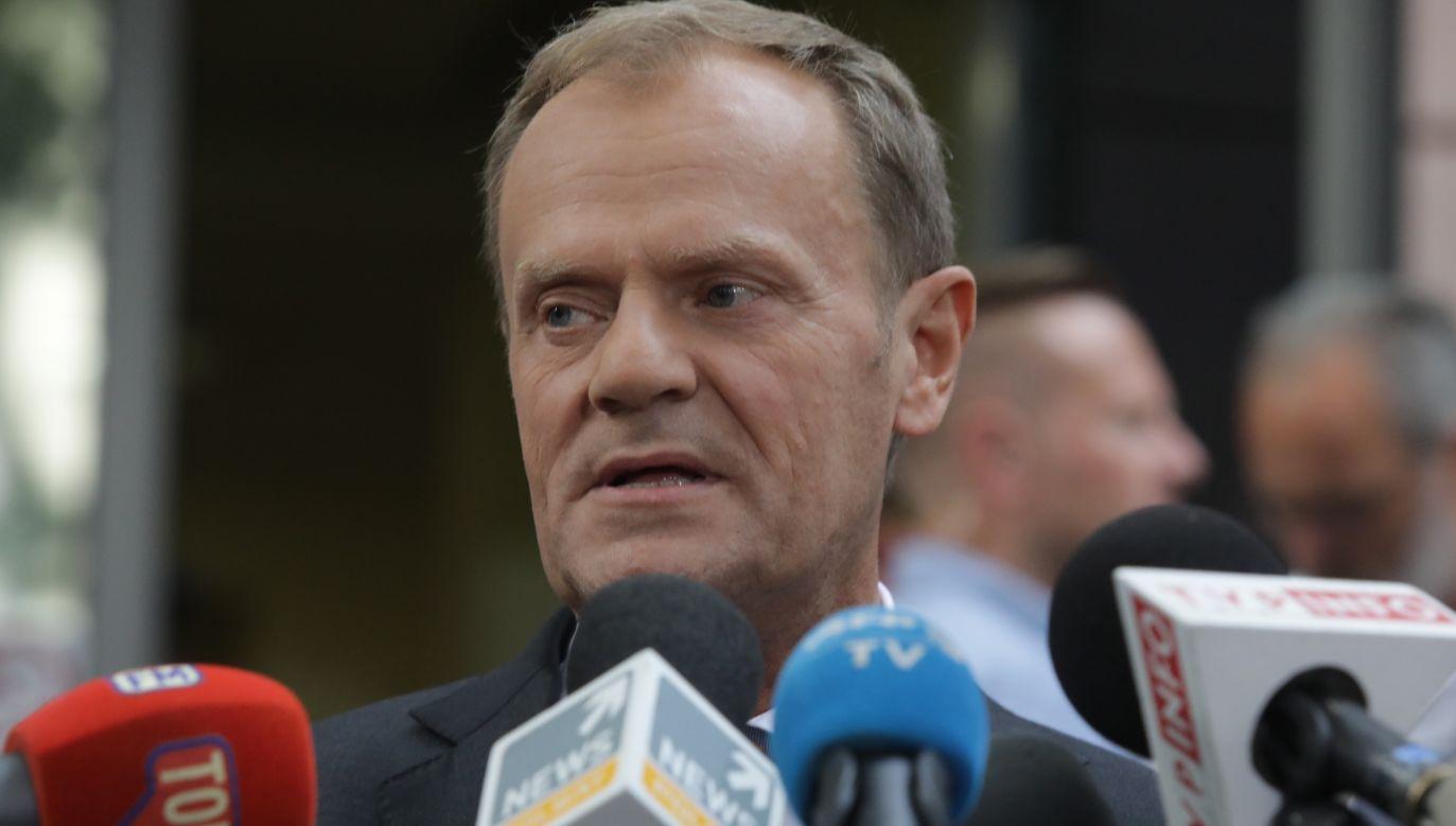 """""""To nietypowe, by przewodniczący Rady Europejskiej krytykował jakikolwiek kraj UE"""" (fot. PAP/Tomasz Gzell)"""