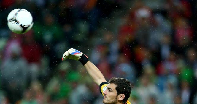 Bramkarz reprezentacji Hiszpanii Iker Casillas (fot. Getty Images)