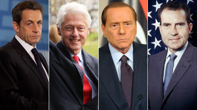 Nicolas Sarkozy, Bill Clinton, Silvio Berlusconi, Richard Nixon  (fot. Pablo Blazquez Dominguez/Graham Denholm/Jacopo Raule/Keystone/Getty Images)