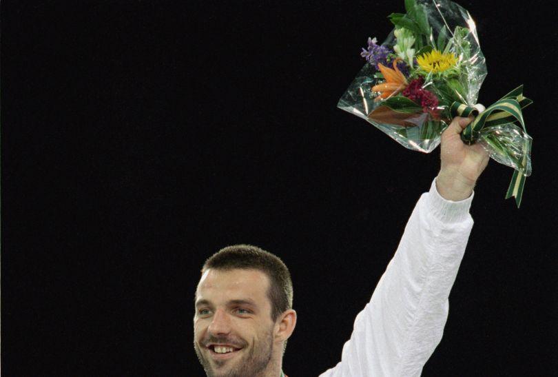 Paweł Nastula cieszył się ze złota w turnieju judo w Atlancie 1996 (fot. Getty Images)