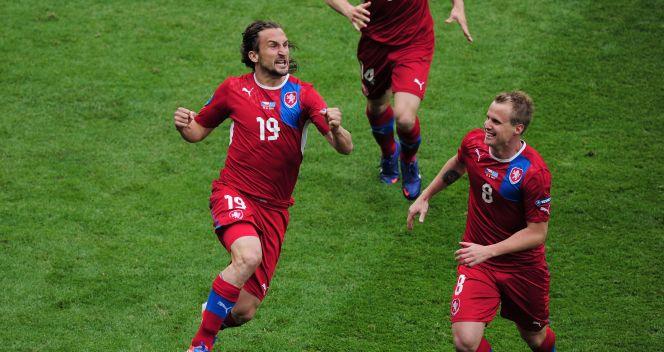 Petr Jiracek uradowany dał prowadzenie reprezentacji Czech (fot. Getty)