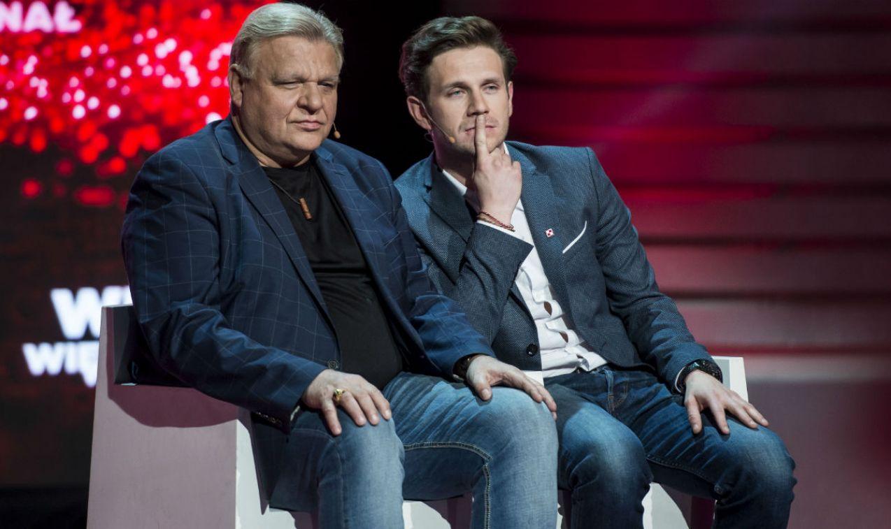 Antoni Królikowski i Jacek Samojłowicz  nad niektórymi pytaniami musieli się zastanowić (fot. J. Bogacz/TVP)