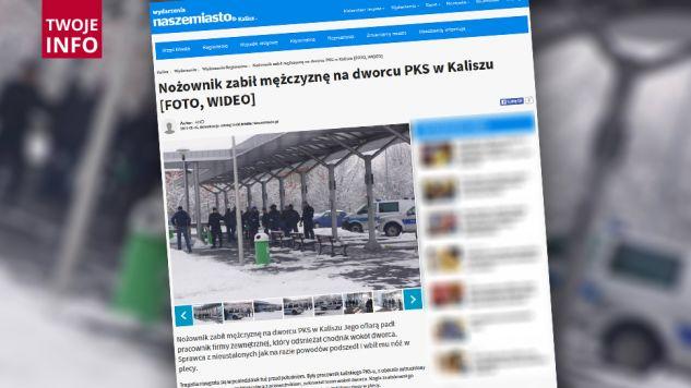 Atak nożownika w Kaliszu (fot. kalisz.naszemiasto.pl)