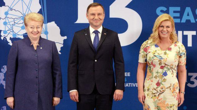 Dalia Grybauskaite, prezydent RP Andrzej Duda i prezydent Chorwacji ...