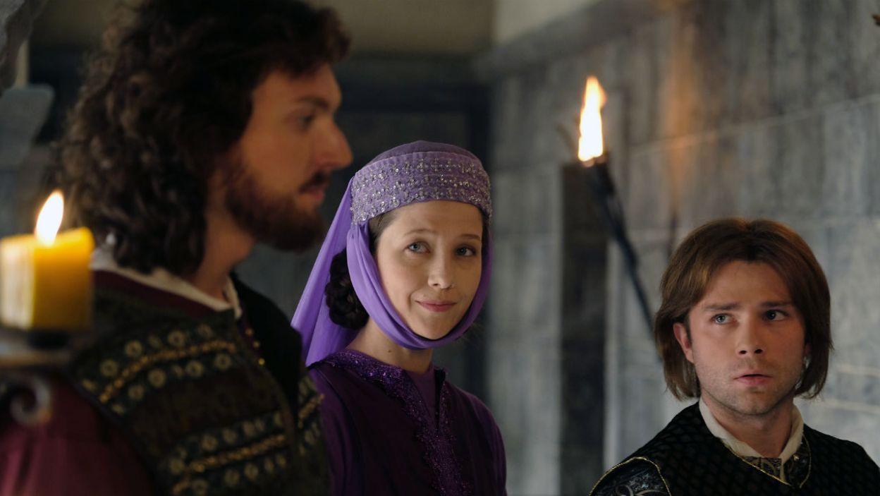 Córka królewskiej pary – Kunegunda – ma nadzieję, że koronę zdobędzie jej syn Bolko (fot. Marcin Makowski/TVP)